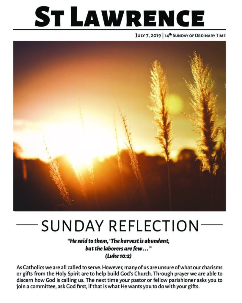 Weekly bulletins - The Catholic Community of St Lawrence